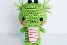 Amigurumi Dragon and Dinosaur / Crochet Amigurumi Dragon and Dinosaur, Crochet pattern migurumi toys, free pattern