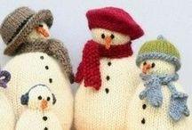 Crochet Christmas Snowman / Christmas Snowman Crochet, Crochet Pattern, amigurumi Christmas Snowman, Christmas toys