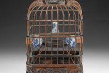 Bird cages, empty