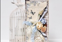 Cards and Pages / Handmade greeting cards using scrap booking materials.
