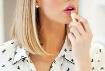 """""""I believe in primping at leisure & wearing lipstick."""" -Audrey Hephburn / Nails to lips and everywhere in between"""
