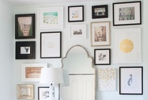 Gallery Wall  / Summer project for dining room & living room