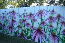 DIY: Fence / An area with inspirational ideas on types of fences one can create with a little upcycle finess.