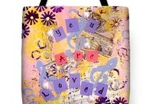 Tote Bags / Inspirational tote bags created from my original abstract inspirational paintings.