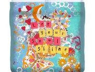 Duvet / Comforter Covers / Inspirational bed linens created from my inspirational paintings.