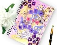 Spiral Journals / Inspirational & Motivational spiral journals created using my original mixed media and watercolor paintings.