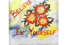 Shower Curtains that Inspire / Motivational / inspirational shower curtains created from my original paintings.