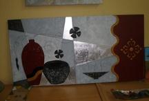 Exposicion manualidades curso 2012 / Trabajos realizados por los alumnos de la escuela de Artesania y vidrio en Coslada