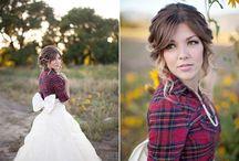 Scottish inspired wedding gowns