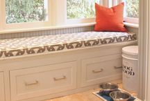 Builtin cabinets and benches