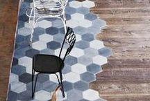 Inspirational floor coverings for interior design ideas / floor tiles, flooring ideas, rugs, carpets for interior design in the home.