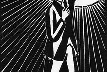 ★ P R I N T ~ woodcut ★ / Prints which draw on the quality of wood.