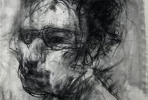 ★ D R A W ~ ghosts ★ / I could make a hundred drawings for each one I get. I am positive that by rubbing out, and trying to do better, and knowing I can do better, the whole drawing gains a kind of history and substance that it didn't have before ~ Jim Dine