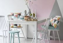 Inspiration - Pastel / Beautiful pastel shades within an interior space