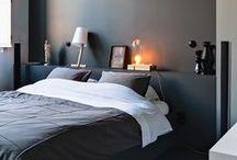 Bedroom / Beds, shelfing, storage, headrests