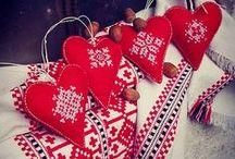 folk hearts emboidery