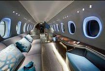 Aviation / Luxury travel interior design in aviation.