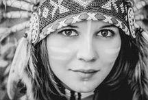 indian headdress girl / inspiration