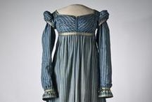 1810's Women's Day Dresses / Dresses for morning, walking, visiting, and so on all jumbled up.