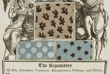 Empire & Regency Fabrics / Prints and woven in