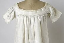 1830's Women's Shifts, Drawers and Nightgowns
