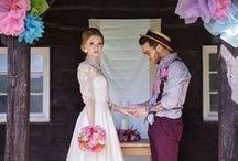 Colour Pop Wedding / 1960s inspired