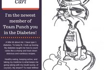 Carl the carb-counting cat! / Carl is the mascot for team Punch you in the Diabetes!  A family team raising money for the American Diabetes Association's signature walk:  Step Out Boston!