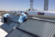 Installations / Εγκαταστάσεις Ηλιακών Θερμοσιφώνων και Φωτοβολταϊκών Συστημάτων από την CALPAK