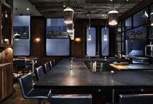 Our Custom Concrete Installations and Furniture / Concrete counters for private kitchens, restaurants, bars, and retail spaces. Concrete tables, chairs, and other custom concrete furniture.