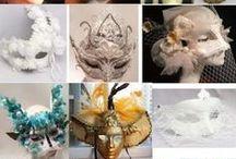 Venetian Carnival Gala Wedding Masquerade Ball Face Masks / Artisan Handmade Venetian Carnival Gala Wedding Masquerade Ball Face Masks http://www.liquiwork.com/masquerade-masks.html / by Liquiwork.com