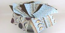 Cloth Wipes, Washcloths, Mini Burp Cloths, & Handkerchiefs by www.HeavenBoundHCA.com / Handmade cloth wipes are a great green option for diapering & tissues, but make great washcloths & mini burp cloths as well.  When they get worn out, they make great dust cloths too!