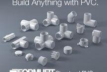 Сделай из ПВХ / DIY a PVC / Изделия из полиэтиленовых труб и соединений(фиттингов) и их планы.