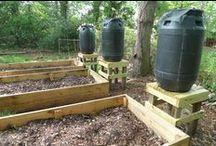 Системы полива / Rain barrels collection for gardening