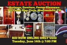 6/14/16 ESTATE AUCTION: Furniture, Antiques, Fenton Glassware / ESTATE AUCTION featuring Antique Furniture, Antique Fenton Glassware, Lamps, Collectibles, Garden Tools, Christmas Decor and more.  662 Forest Glen Circle, Murfreesboro, Tennessee.  BID NOW ONLINE ONLY UNTIL  Tuesday, June 14th, 2016 @ 7:00 PM. Bidding has ended for this auction. Stay tuned to http://www.comasmontgomery.com for more upcoming auctions.  #murfreesboro #tennessee #estate #sales #forsale #furniture #antiques #glassware #fenton #comas #montgomery