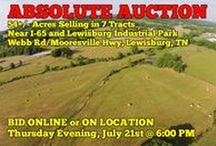 7/21/16 ABSOLUTE AUCTION: 54+/- Acres in 7 Tracts near I-65 / Bidding has ended for this auction. Stay tuned to http://www.comasmontgomery.com/ for more upcoming auctions.   ABSOLUTE AUCTION featuring 54+/- Acres in 7 Tracts. Development Potential - Industrial or Residential. Easy Access to I-65.  Webb Road/Mooresville Hwy,  Lewisburg, Tennessee - Marshall County.  BID NOW ONLINE or ON LOCATION Thursday Evening, July 21st, 2016 @ 6:00 PM.  #development #land #industrial #residential #forsale #realestate #auction #lewisburg #tennessee #marshall  #interstate