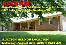 8/20/16 AUCTION: Super Clean One Level Home on 1+/- Acre / Bidding has ended for this auction. Stay tuned to http://www.comasmontgomery.com/ for more upcoming auctions.   -AUCTION featuring 2 BEDROOM, 2 BATH, SUPER CLEAN ONE LEVEL BRICK HOME with 2 CAR GARAGE and STORAGE BARNS ALL ON 1+/- ACRE.  4187 Betty Ford Road,  Murfreesboro, Tennessee,   AUCTION HELD ON LOCATION Saturday, August 20th, 2016 @ 10:01 AM.  This Super Clean One Level Brick Home features a small foyer 2 Bedrooms, 2 Baths  #home #house #forsale #auction #murfreesboro #tennessee