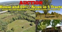 10/29/16 AUCTION: House and 60+/- Acres in 5 Tracts near I-40 / AUCTION featuring House and 60+/- Acres in 5 Tracts w/ Access to Sewer.  3169/3179 Earhart Road/John Hagar Road, Davidson and Wilson County, Tennessee.  AUCTION HELD ON LOCATION Saturday, October 29th, 2016 @ 10:00 AM.  Bidding has ended for this auction. Stay tuned to http://www.comasmontgomery.com/ for more upcoming auctions.  #realestate #land #acres #tract #davidson #wilson #county #tennessee #house #home #farm #i40 #interstate40 #mtjuliet #mount #juliet #nashville #comas #montgomery
