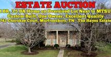 11/5/16 ESTATE AUCTION: 4BR, 3.5BA Custom Built Home near MTSU / Bidding has ended for this auction. Stay tuned to http://www.comasmontgomery.com/ for more upcoming auctions.  ESTATE AUCTION featuring 4 Bedroom, 3.5 Bath Home on Oversized Lot Next to MTSU! Custom Built - One Owner - Built in 1968 - Excellent Quality... Ahead of Its Time!  The Hayes Estate:  742 Cherokee Court, Murfreesboro, Tennessee.  BID NOW ONLINE or ON LOCATION Saturday, Nov. 5th, 2016 @ 10 AM.  #realestate #home #house #forsale #estate #auction #cherokee #mtsu #murfreesboro #tennessee