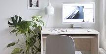 Workspaces / Workspaces — estudio • oficina • escritorio • decoración • ideas • minimalista • trabajo • despacho • industrial • inspiración • plantas • espacio de trabajo • área de trabajo | spacework • office • work • creative • ideas • minimal • small • studio • desk • inspiration • DIY ideas • table • plants