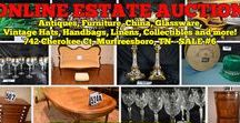 10/30/16 ESTATE AUCTION: Antique Furniture, Glassware, China, Vintage Hats, Handbags & more / Bidding has ended for this auction. Stay tuned to http://www.comasmontgomery.com/ for more upcoming auctions. ONLINE ESTATE AUCTION: 742 Cherokee Court, Murfreesboro, TN, The Hayes Estate. BID NOW ONLINE ONLY Until Sunday, October 30th, 2016 @ 7:00 PM.  #estate #sale #auction #furniture #antiques #china #glassware #linens #vintage #hats #handbags #purses #fostoria #royaldoulton #lenox #waterford #jewelry #cubcadet #mower #murfreesboro #tennessee