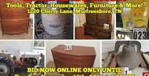 "11/13/16 ESTATE AUCTION - Tractor, Tools, Furniture & More! / Bidding has ended for this auction. Stay tuned to http://www.comasmontgomery.com/ for more upcoming auctions.  ESTATE AUCTION featuring TONS OF TOOLS, FORD TRACTOR, HOUSEWARES, ANTIQUES, BASEBALL CARDS, RESTAURANT EQUIPMENT and MORE!  1220 Cherry Lane Murfreesboro, Tennessee ""The Rudd Living Estate""  BID NOW ONLINE ONLY UNTIL Sunday, Nov. 13th, 2016 @ 8:00 PM.  #auction #estate #murfreesboro #tennessee #tractor #furniture #antiques #collectibles #tools #fostoria #baseball #advertising #vintage"
