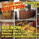 3/5/17 ONLINE AUCTION: Antiques, Vintage Furniture, Home Furnishings & more! / ONLINE ONLY PERSONAL PROPERTY AUCTION featuring Antique and Vintage Home Furnishings. 1144 Birdwell Drive, Gallatin, Tennessee.   BID NOW ONLINE ONLY Until Sunday, March 5th, 2017 @ 8:00 PM.  Bidding has ended for this auction. Stay tuned to http://www.comasmontgomery.com/ for more upcoming auctions.   #Antiques #Furniture #Vintage #Home #Furnishings  #Fixtures #Decor #Cabinet #Dresser #Bedroom #China #Dishes  #Gallatin #Tennessee #Nashville #Auction #ForSale