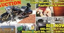 4/9/17 AUCTION featuring Harley Davidson Road King, Lawn Mowers, Tools, Storage Shed and more / ONLINE ONLY PERSONAL PROPERTY AUCTION  170 Triple B Lane, Morrison, Tennessee.  BID NOW ONLINE ONLY Until Sunday, April 9th @ 8:00 PM.  Bidding has ended for this auction. Stay tuned to http://www.comasmontgomery.com/ for more upcoming auctions.  Harley Davidson Road King, Storage Building, Kubota Zero Turn, Furniture, Appliances & more!  #harley #davidson #motorcycle #lawn #mower #kubota #zero #turn #johndeere #husqvarna #builiding #trailer #tools #furniture #appliances #tennessee #auction