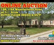 5/21/17 ONLINE AUCTION: 3 BR, 2 BA Manufactured Home on 5+/- Acres / Bidding has ended for this auction. Stay tuned to http://www.comasmontgomery.com/ for more upcoming auctions.  ONLINE ONLY AUCTION featuring Beautiful 3 BR, 2 BA Manufactured Home on 5+/- Acres - Super Clean Inside and Out!  397 Howard Martin Road Fayetteville, Tennessee in Moore County  BID NOW ONLINE ONLY Until Sunday, May 21st, 2017 @ 7:00 PM.  #realestate #mobile #manufactured #home #fayetteville #tennessee#auction #moore #lincoln #franklin #county #winchester #lynchburg
