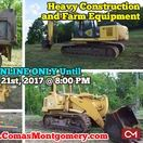 5/21/17 ONLINE AUCTION: Heavy Farm and Construction Equipment For Sale / Online Only Auction featuring Heavy Farm and Construction Equipment: Komatsu PC200LC Excavator,  Caterpillar 953 Crawler Loader,  Volvo Dump Truck,  Double Bottom Plow,  6 Ft. Rock Rake.  BID NOW ONLINE ONLY Until  Sunday, May 21st, 2017 @ 8:00 PM. Bidding has ended for this auction. Stay tuned to http://www.comasmontgomery.com/ for more upcoming auctions.  #heavy #equipment #forsale #farm #construction #komatsu #caterpillar #dump #truck #tennessee #auction