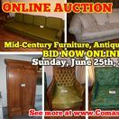 6/25/17 LIVING ESTATE ONLINE AUCTION: Mid-Century Furniture, Appliances & more / ONLINE ONLY AUCTION:  1415 Beasley Court,  Murfreesboro, Tennessee. The Living Estate of Hazel Coppage.  BID NOW ONLINE ONLY Until Sunday, June 25th, 2017 @ 7:00 PM. Bidding has ended for this auction. Stay tuned to http://www.comasmontgomery.com/ for more upcoming auctions.   Mid-Century Furniture, Anitques, Glassware, Tools and more!  #auction #online #estate #sale #murfreesboro #tennessee #vintage #antiques #midcentury #furniture #appliances #glassware #yard #tools