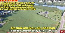 8/10/17 AUCTION: Nice Assisted Living Facility & 4 Acreage Lots near Tim's Ford Lake / Bidding has ended for this auction. Stay tuned to http://www.comasmontgomery.com/ for more upcoming auctions.   AUCTION featuring NICE ASSISTED LIVING FACILITY AT TIM'S FORD LAKE w/ 4 ADJOINING ACREAGE LOTS!  1311 Lynchburg Rd, Winchester, TN.  BID NOW ONLINE or ON LOCATION Thursday, August 10th, 2017 @ 1:00 PM.  #land #acres #timsfordlake #lake #resort #nursinghome #assistedliving #facility #building #commercial #property #auction #winchester #tennessee #franklincounty #investment #development