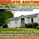 8/31/17 ABSOLUTE ESTATE AUCTION: 3 BR, 2.5 BA Home with Basement in Eagleville / Bidding has ended for this auction. Stay tuned to http://www.comasmontgomery.com/ for more upcoming auctions.   ESTATE AUCTION featuring 3 BR, 2.5 BA HOME WITH BASEMENT SELLING ABSOLUTE!  844 Cheatham Springs Road, Eagleville, Tennessee in Rutherford County.   AUCTION HELD ON LOCATION Thursday Evening, August 31st, 2017 @ 6:00 PM.  PREVIEW: Sunday, August 27th from 1-2 PM.  #realestate #auction #home #house #eagleville #tennessee #basement #recroom #deck #garage #murfreesboro #rutherford #county