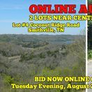 8/29/17 ONLINE AUCTION: 2 LOTS NEAR CENTER HILL LAKE / BID NOW ONLINE ONLY UNTIL  Tuesday Evening, August 29th, 2017 @ 7:00 PM. Bidding has ended for this auction. Stay tuned to http://www.comasmontgomery.com/ for more upcoming auctions.   Lot 4: Coconut Ridge Rd. Lot 146: Lake View Dr. - SELLING ABSOLUTE!!! Utilities available to build your dream home.  #realestate #land #lake #lot #lots #centerhill #smithville #tennessee #build #dream #home #house #auction #absolute