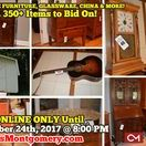 9/24/17 ONLINE AUCTION: Antique Furniture, Glassware, China & more! / ONLINE ONLY ESTATE AUCTION featuring Antique Furniture, Glassware, China, Lamps, Clocks OVER 350 Items to Bid On!  1410 Sunnyside Drive, Columbia, Tennessee   BID NOW ONLINE ONLY Until  Sunday, September 24th, 2017 @ 8:00 PM. Bidding has ended for this auction. Stay tuned to http://www.comasmontgomery.com/ for more upcoming auctions.   #furntiure #glassware #china #antiques #fenton #fostoria #whitehall #lamps #clocks #guitar #art #chairs #cabinets #stools #table #tennessee #auction
